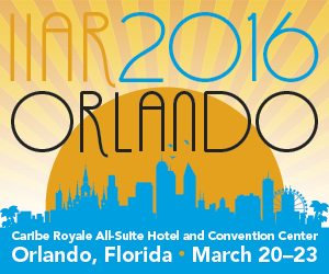 IIAR 2016 Conference Orlando, Florida March 20-23 visit us at booth 900
