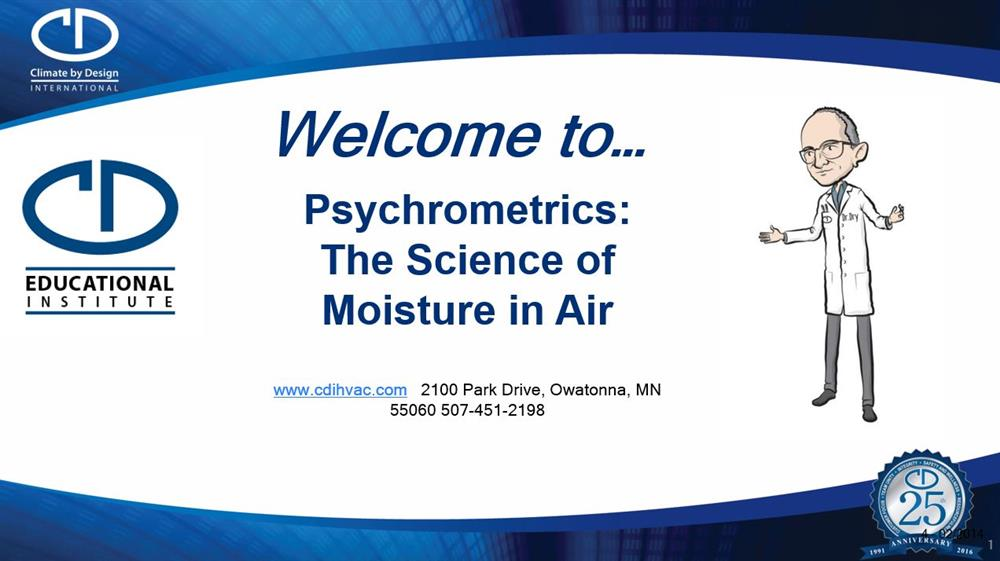 Psychrometrics: The Science of Moisture in Air
