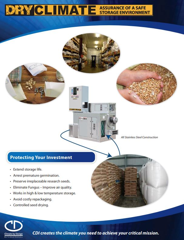 Dry Climate Seed Storage Application