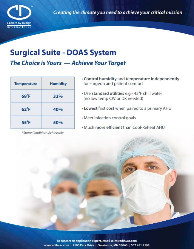 Surgical Suite - DOAS System