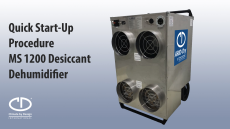 MS 1200 Desiccant Dehumidifier