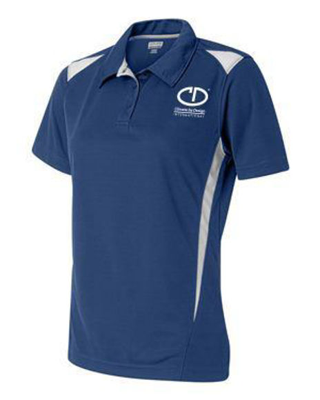 Picture of Augusta Women's Two-Tone Premier Sport Shirt Royal/White #5013