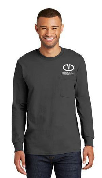 Picture of Port & Company Tall Long Sleeve Essential Pocket Tee PC61LSPT